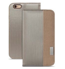 Moshi Moshi Overture Wallet for iPhone 6 / 6s - Dark Silver / Tan