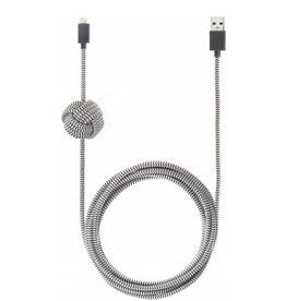 Native Union Native Union 3M USB to Lightning Knot Night Cable - Zebra
