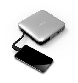 MiPow Power Cube 9000mAh with Lightning Cable - Gunmetal
