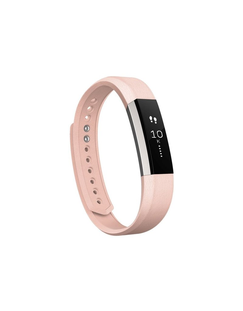 FitBit Alta Leather Band - Large Blush Pink