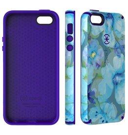 Speck Speck iPhone 5 / 5s / SE CandyShell INKED - Aqua Floral Blue