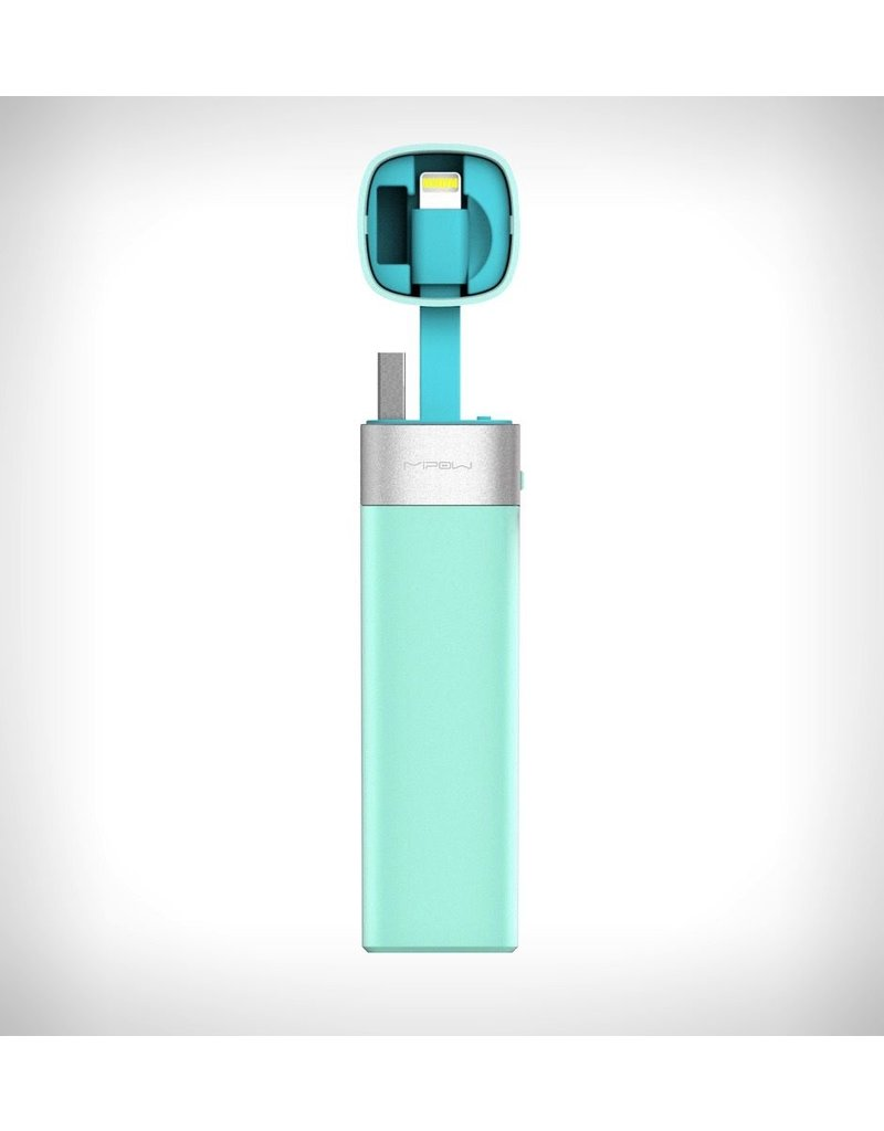 MiPow Power Tube 3000mAh  Lighning with Juicesync - Light Blue