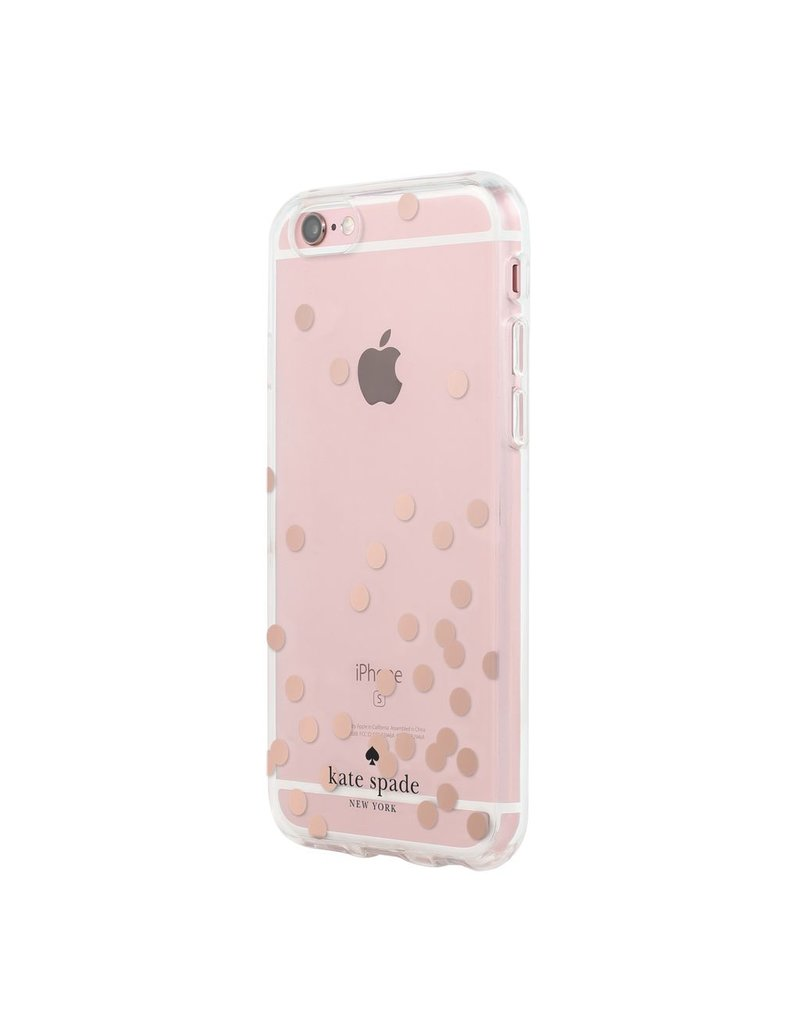kate spade new york kate spade Clear Case for iPhone 6 / 6s - Confetti Dot Rose Gold
