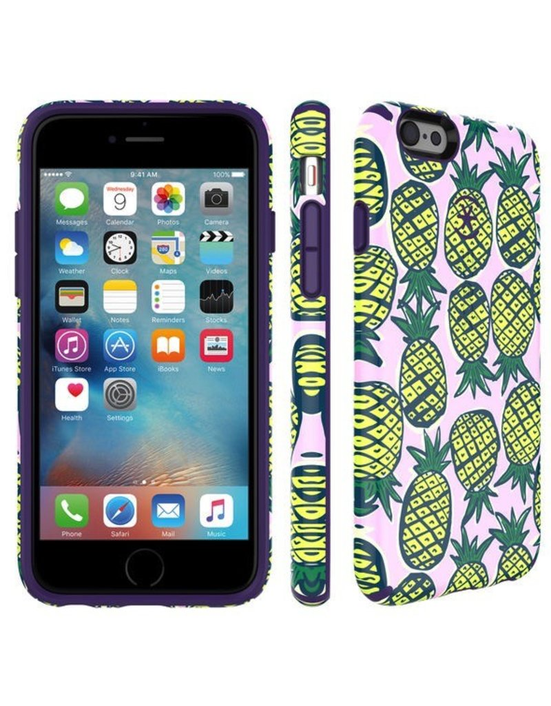 Speck Speck Candyshell INKED for iPhone 6 / 6s - Pineapple / Knight Purple
