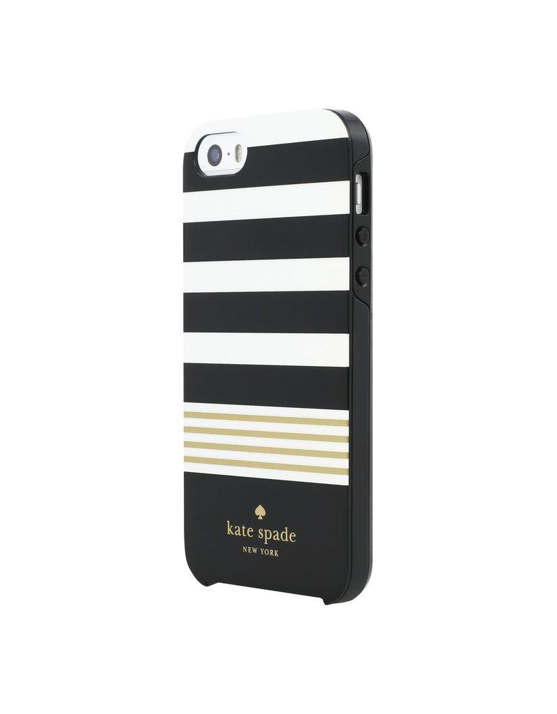 kate spade new york kate spade Hybrid Case for iPhone 5s / SE - Stripe Black / White / Gold Foil