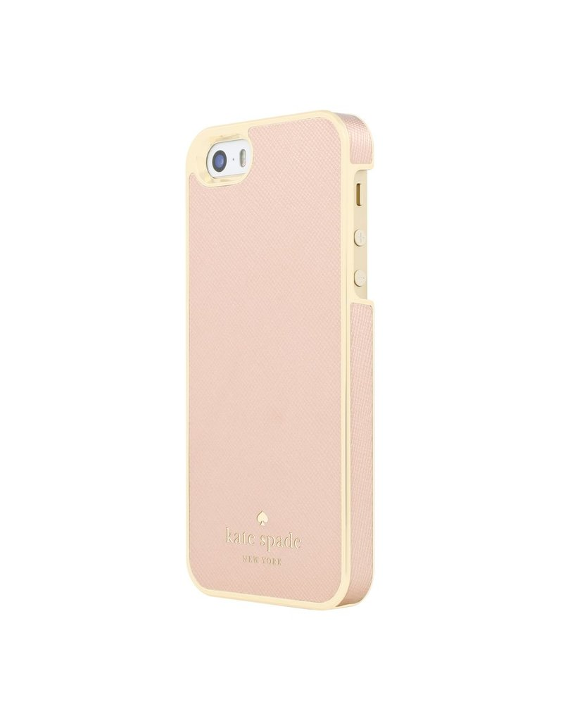 kate spade new york kate spade Wrap Case for iPhone 5s / SE - Saffiano Rose Gold