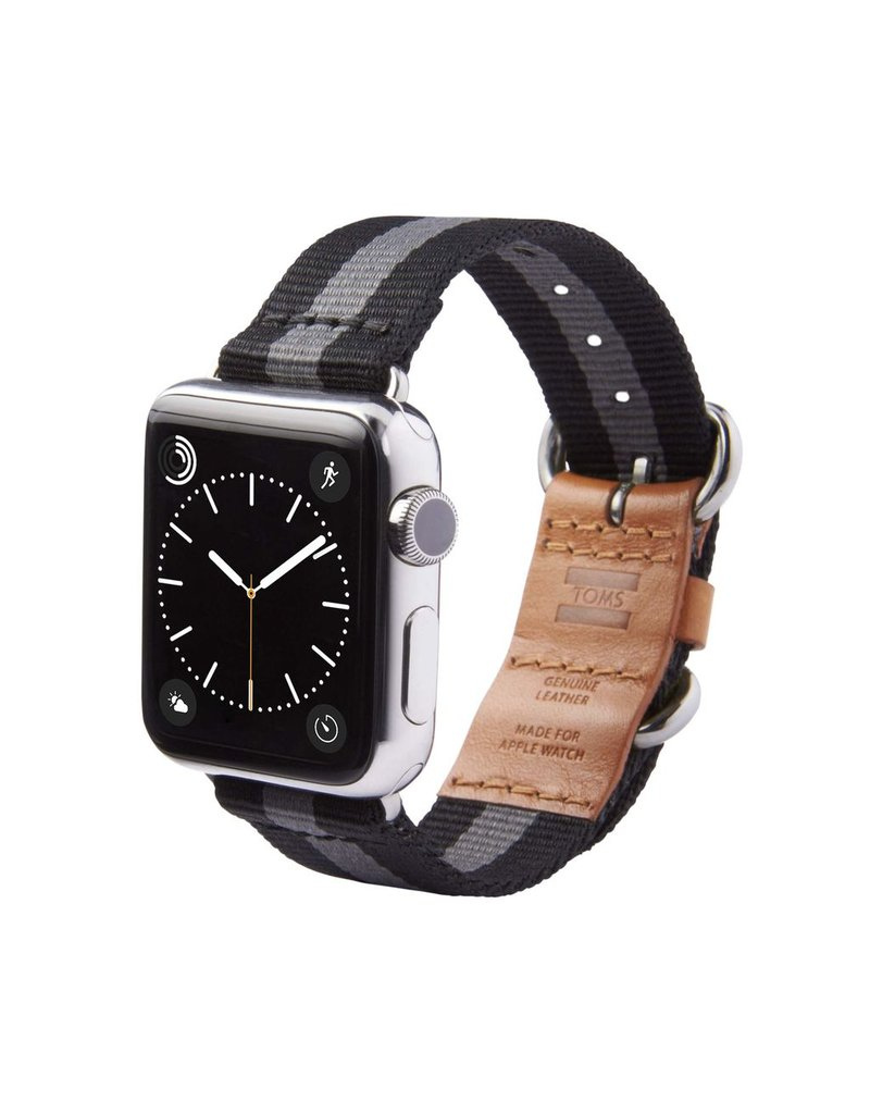 TOMS TOMS Apple Watch 42mm Utility Band - Black Stripe