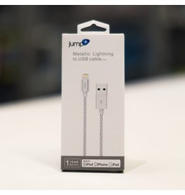 Jump+ USB to Lightning Cable 1m Braided - Silver