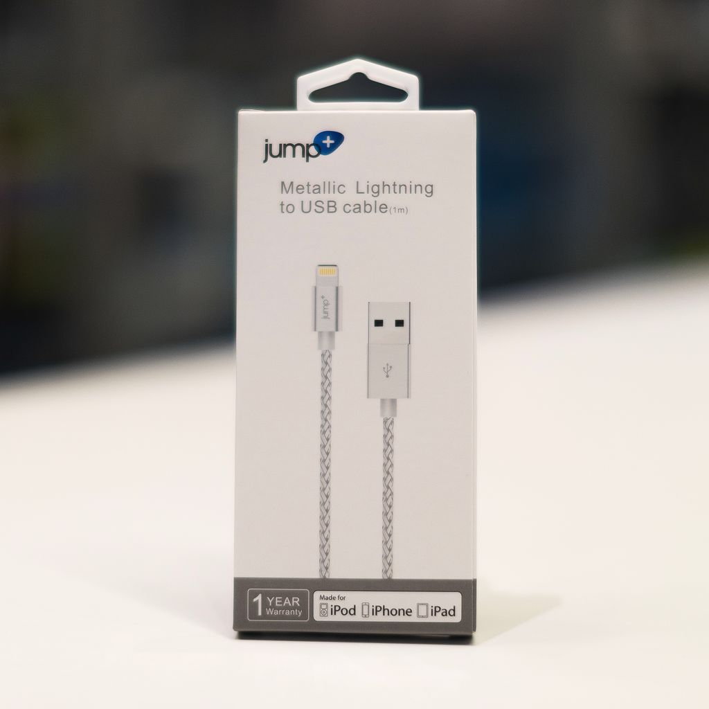 Jump Jump+ USB to Lightning Cable 1m Braided - Silver