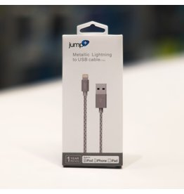 Jump+ USB to Lightning Cable 1m Braided - Grey
