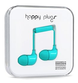 Happy Plugs In-Ear with Remote & Mic - Turquoise