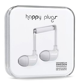 Happy Plugs In-Ear with Remote & Mic - White