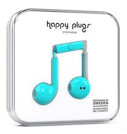 Happy Plugs Earbud Plus with Remote & Mic - Turquoise