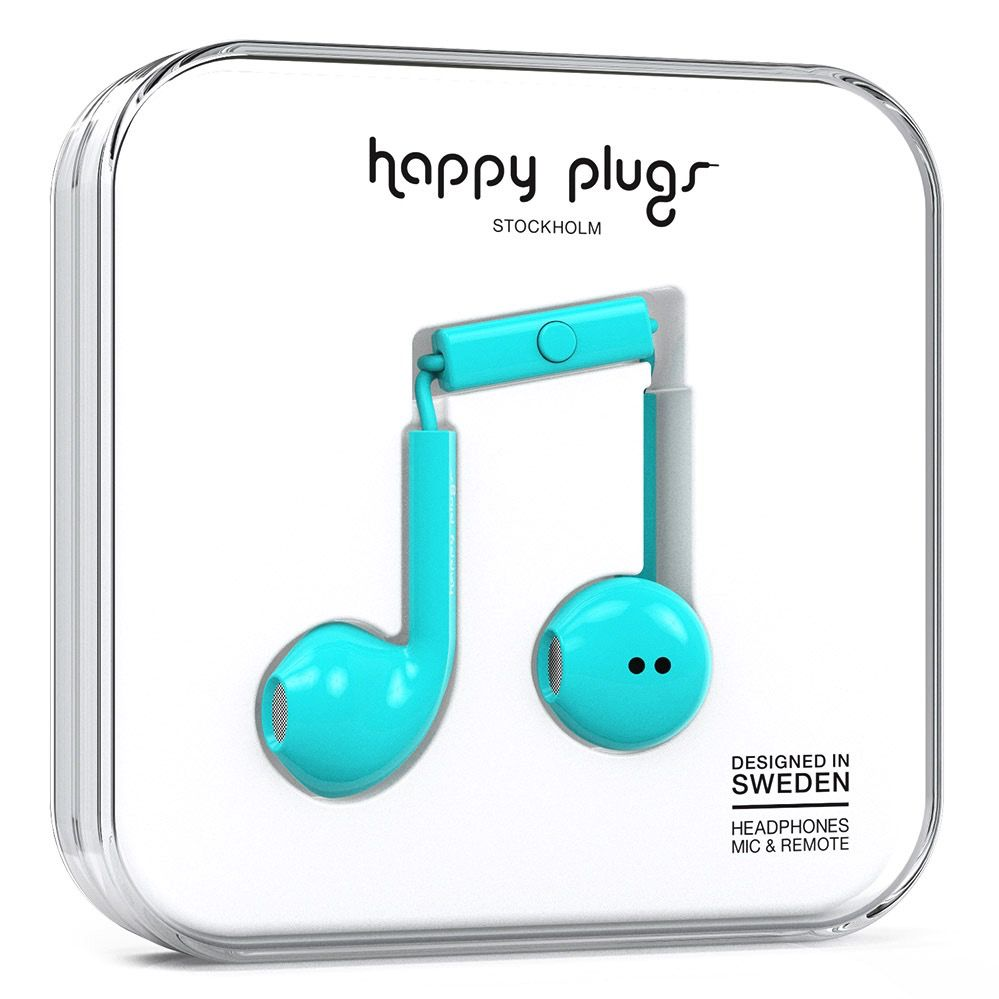 Happy Plugs Happy Plugs Earbud Plus with Remote & Mic - Turquoise