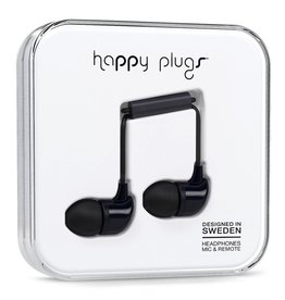 Happy Plugs In-Ear with Remote & Mic - Black