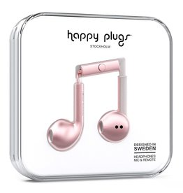 Happy Plugs Deluxe Earbud Plus with Remote & Mic - Pink Gold