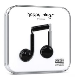 Happy Plugs Earbud Plus with Remote & Mic - Black
