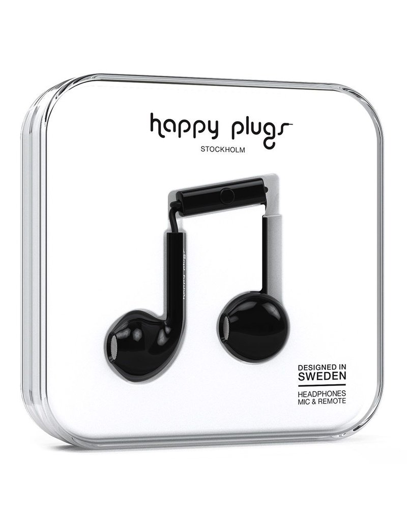 Happy Plugs Happy Plugs Earbud Plus with Remote & Mic - Black