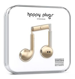 Happy Plugs Deluxe Earbud Plus with Remote & Mic - Champagne Gold