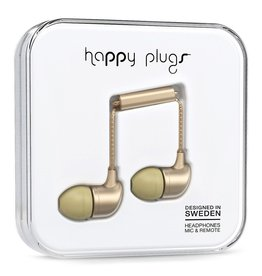 Happy Plugs Deluxe In-Ear with Remote & Mic - Champagne Gold