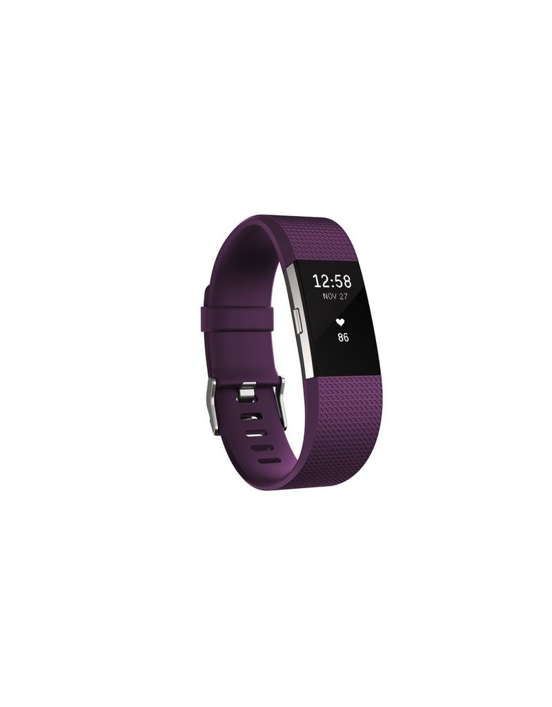 FitBit Charge 2 Heart Rate and Fitness Wristband - Large Plum