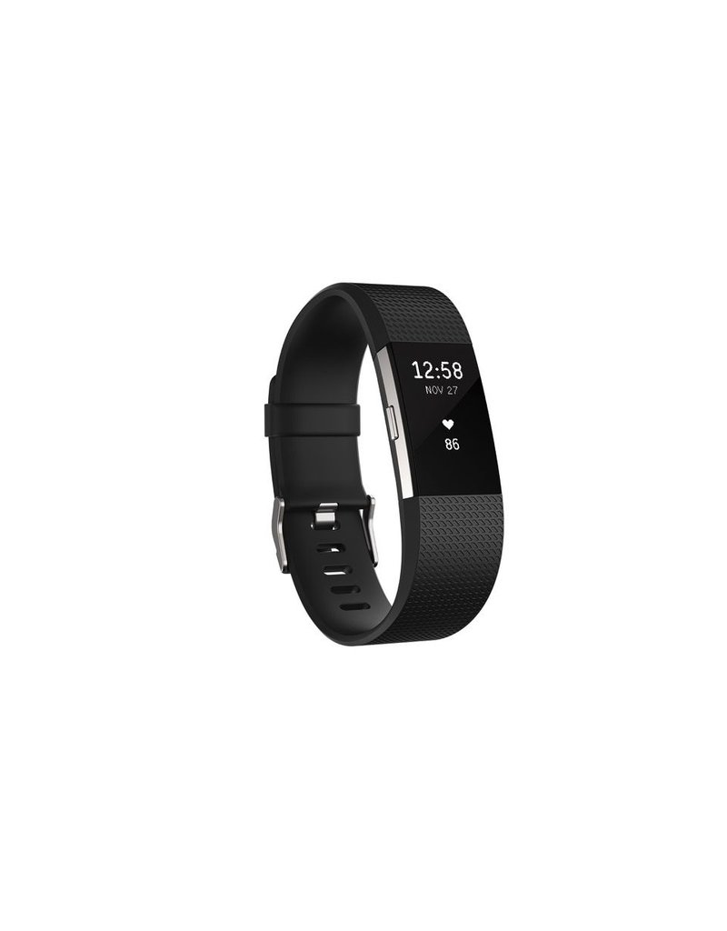 FitBit Charge 2 Heart Rate and Fitness Wristband - Large Black