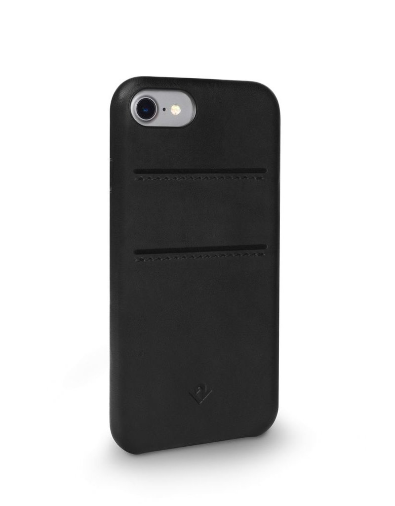 Twelve South Twelve South Relaxed Leather Case with Pockets for iPhone 8/7/6 - Black