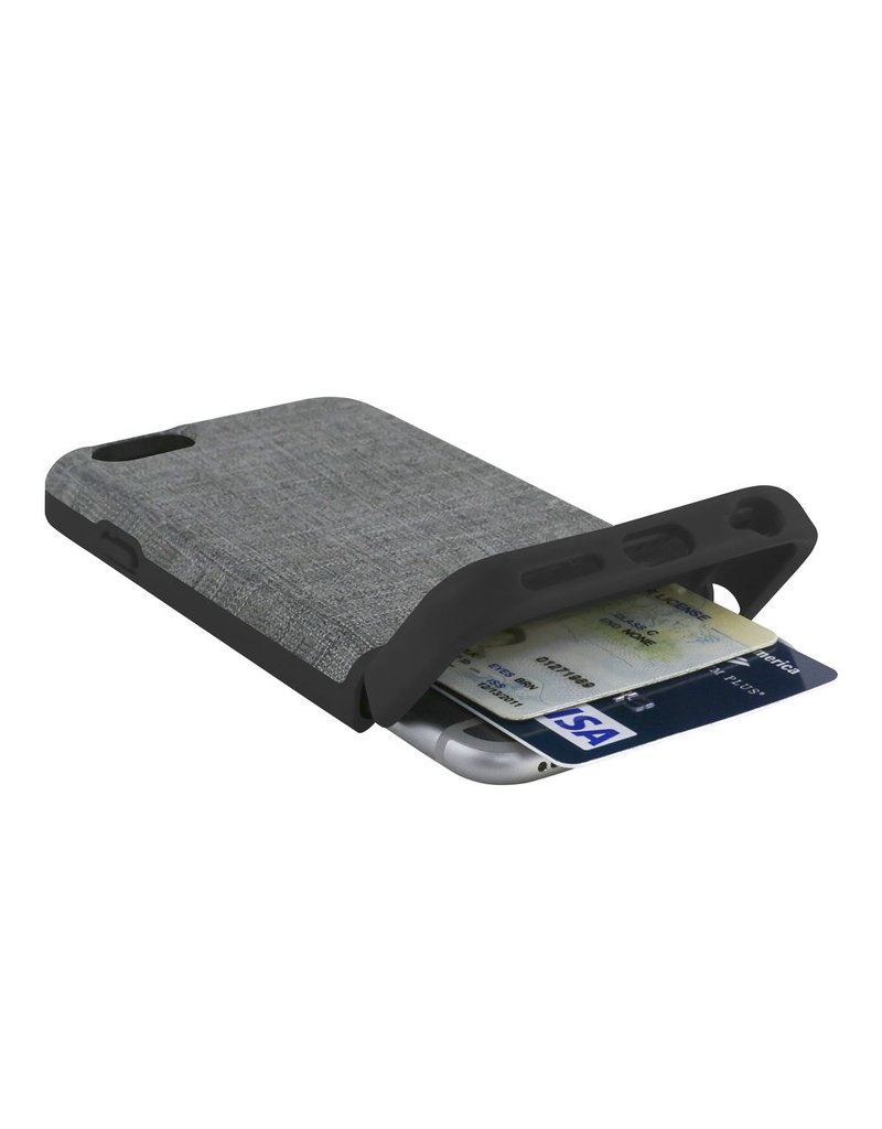 JACK SPADE Credit Card Case for iPhone 6 / 6s - Tech Oxfor Gary / Black
