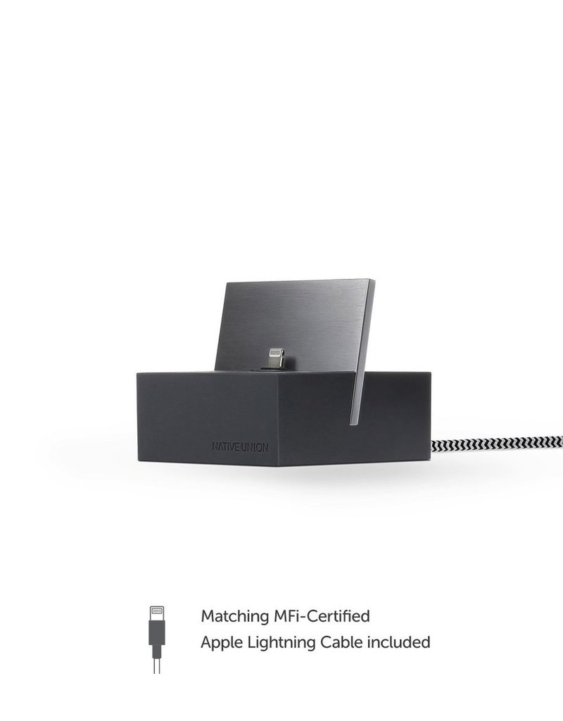 Native Union Native Union Dock for iPhone with 1.2M Lightning Cable - Slate
