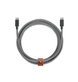 Native Union Native Union 2.4M Belt USB-C to USB-C Cable - Zebra