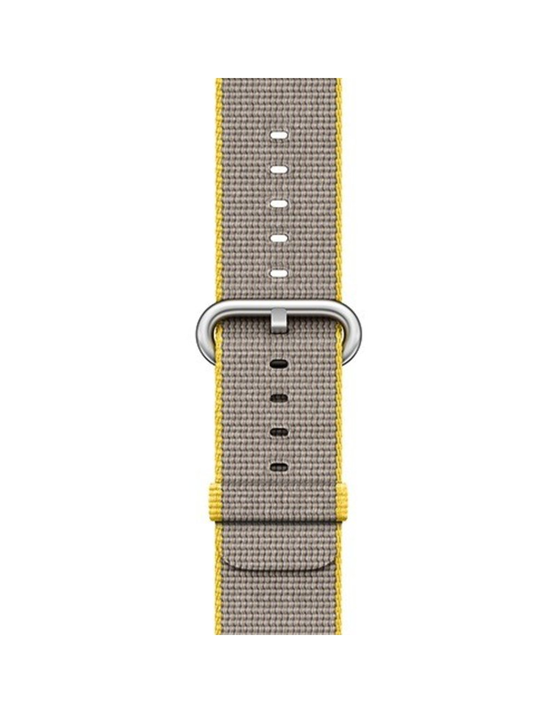Apple Apple Watch 42mm Yellow / Light Gray Woven Nylon Band