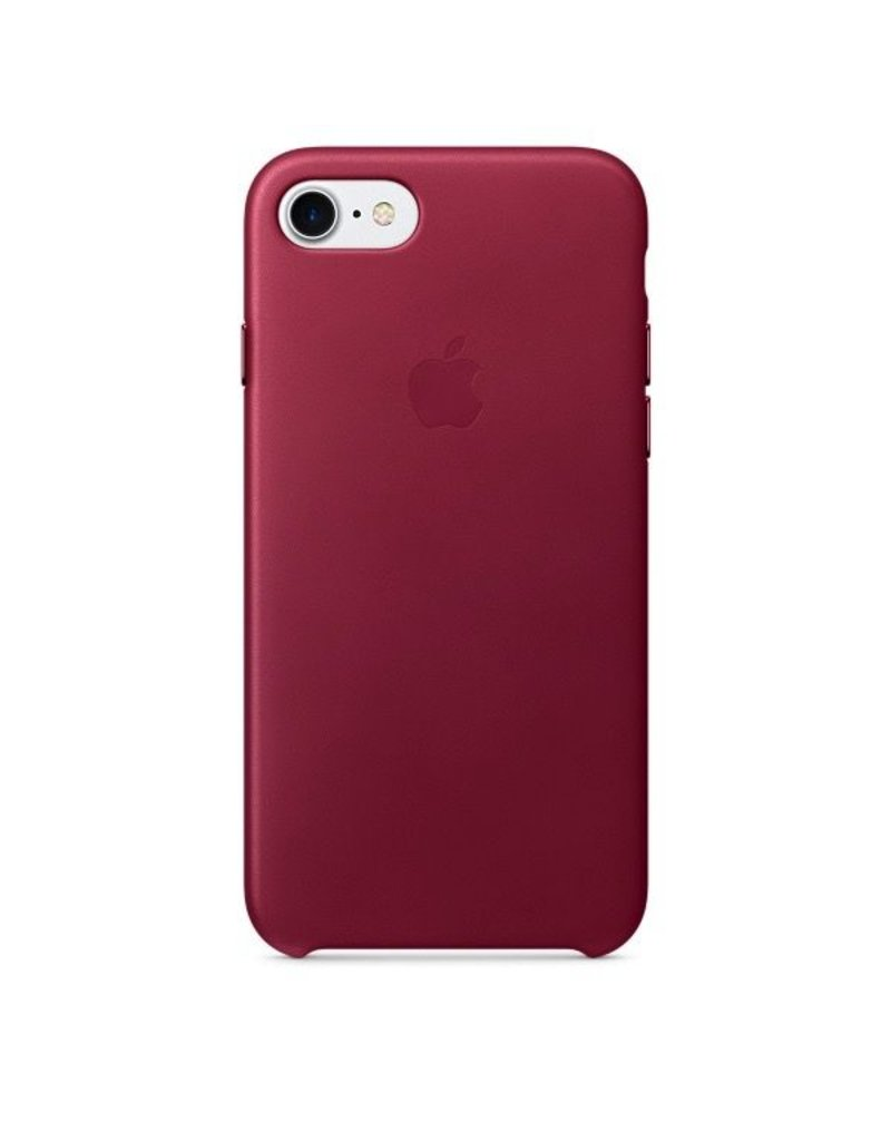 Apple Apple iPhone 7 Leather Case - Berry