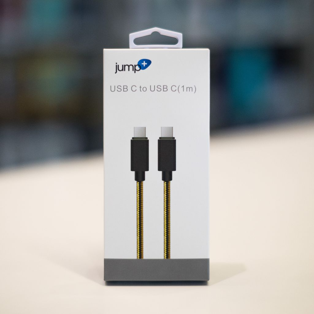 Jump Jump+ USB-C to USB-C 1M Braided Cable - Black / Gold
