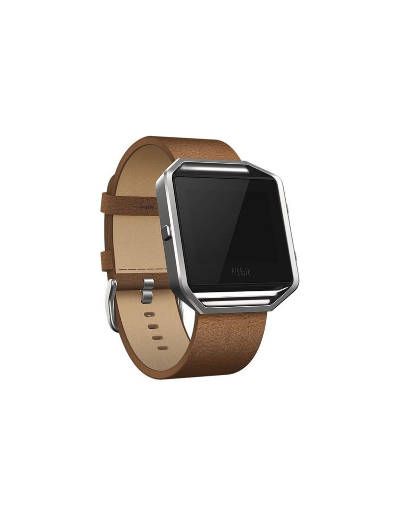 FitBit Blaze Leather Band - Large Camel