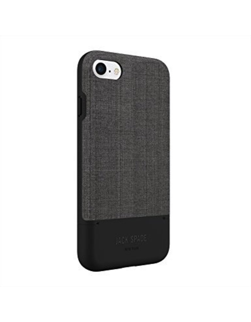 JACK SPADE Credit Card Case for iPhone 7 - Tech Oxford Gray / Black