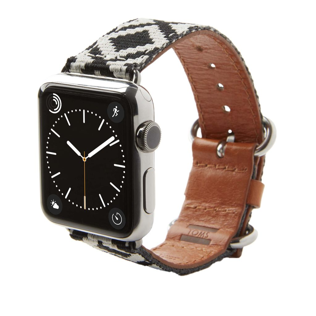TOMS TOMS Apple Watch 38mm Artisan Band - Black Diamond