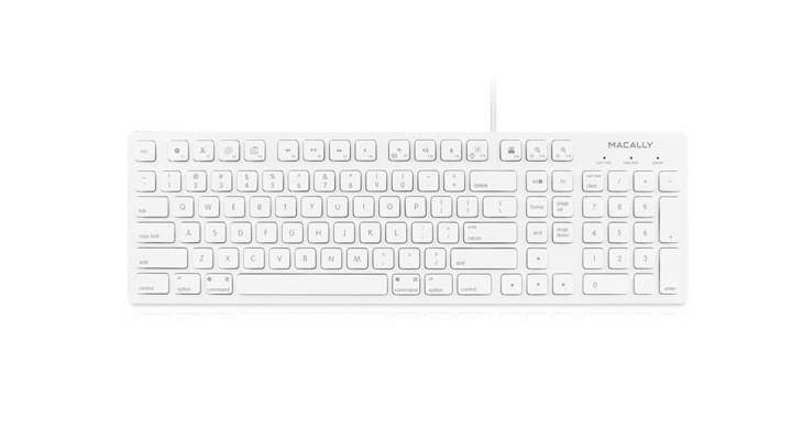 Macally Keyboard for Mac (103 keys) - White