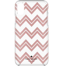 kate spade new york kate spade Hardshell Case for iPhone X - Chevron / Rose Gold Glitter