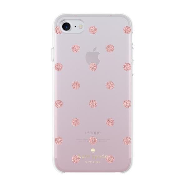 kate spade new york kate spade Hardshell Case for iPhone 8/7/6 - Glitter Dot /Foxglove Ombre