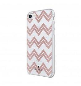 kate spade new york kate spade Hardshell Case for iPhone 8/7/6 - Chevron / Rose Gold Glitter