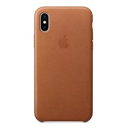Apple Apple iPhone X Leather Case - Saddle Brown