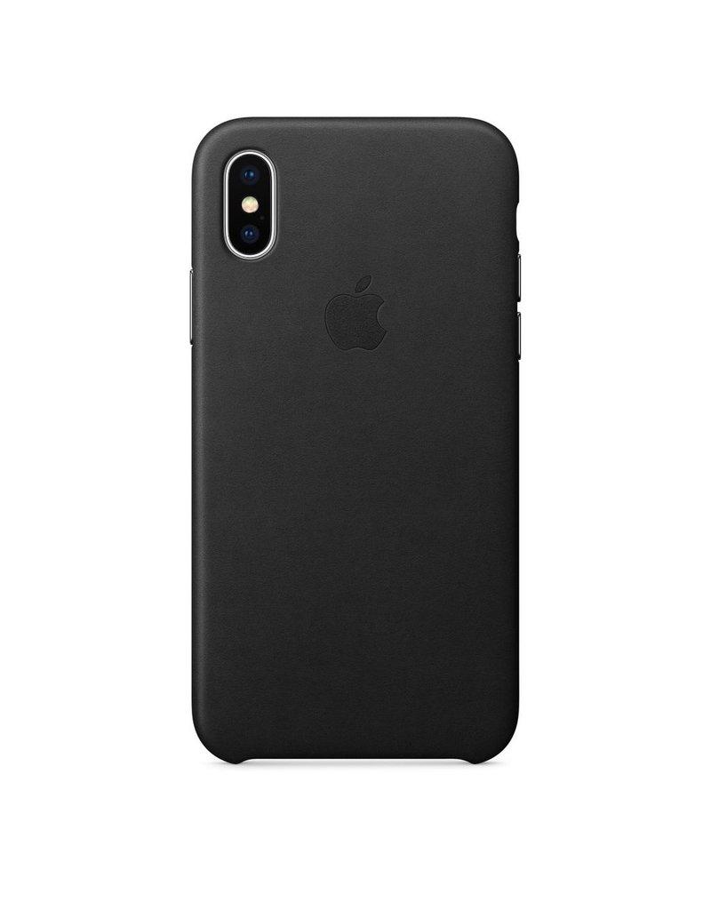 Apple Apple iPhone X Leather Case - Black