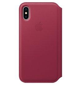 Apple Apple iPhone X Leather Folio - Berry