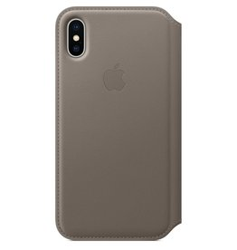 Apple Apple iPhone X Leather Folio - Taupe