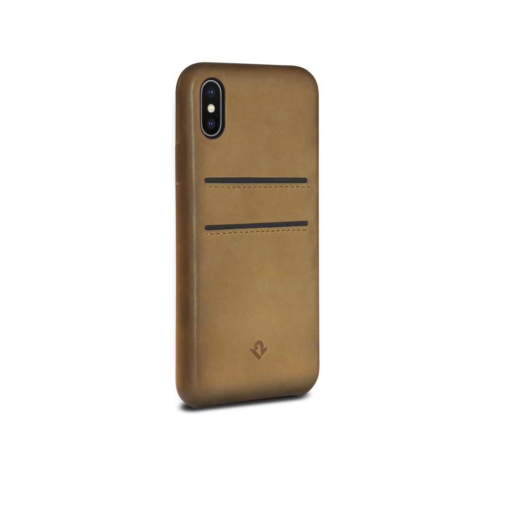 Twelve South Twelve South Relaxed Leather Case with Pockets for iPhone X - Cognac