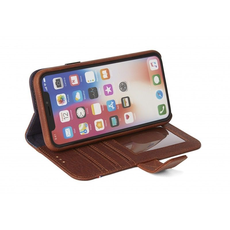 Decoded 2-in-1 Wallet Case for iPhone X - Cinnamon Brown