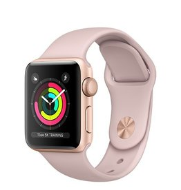 Apple Apple Watch Series 3 GPS 38mm Gold Aluminium Case with Pink Sand Sport Band