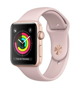 Apple Apple Watch Series 3 GPS 42mm Gold Aluminium Case with Pink Sand Sport Band
