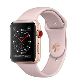 Apple Apple Watch Series 3 GPS + Cellular 42mm Gold Aluminium Case with Pink Sand Sport Band