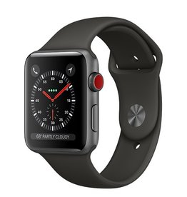 Apple Apple Watch Series 3 GPS + Cellular 42mm Space Grey Aluminium Case with Grey Sport Band